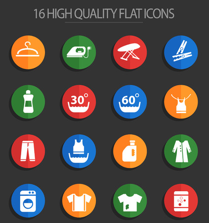 laundry web icons for user interface design