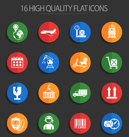 logistic vector icons for web and user interface design