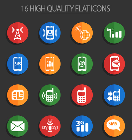 mobile connection web icons for user interface design Standard-Bild - 112146345