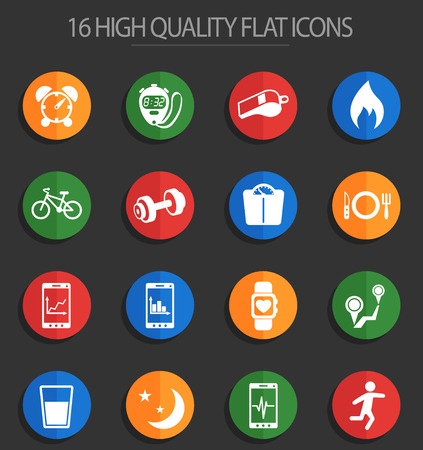 monitoring apps vector icons for web and user interface design Illustration
