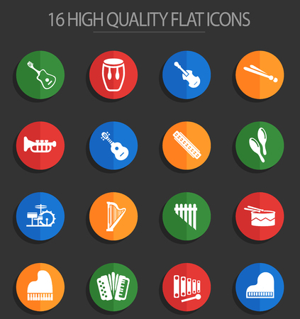 musical instruments web icons for user interface design