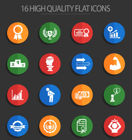 success web icons for user interface design Vectores
