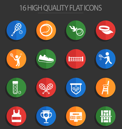 tennis vector icons for web and user interface design