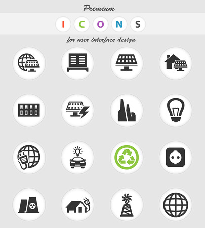 alternative energy vector icons for user interface design