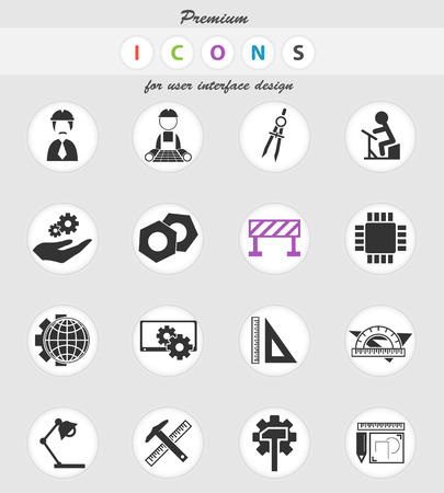 engineering vector icons for user interface design