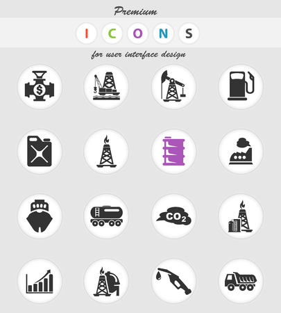 extraction of oil vector icons for user interface design Иллюстрация