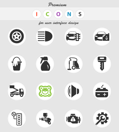 car shop vector icons for user interface design 版權商用圖片 - 106018033
