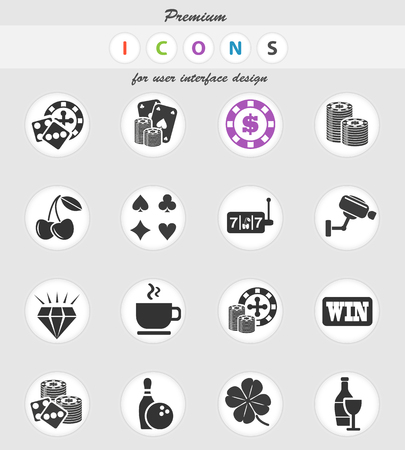 casino web icons for user interface design