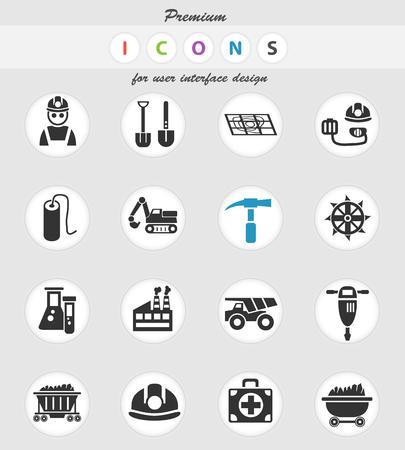 coal industry web icons for user interface design Archivio Fotografico - 112146569