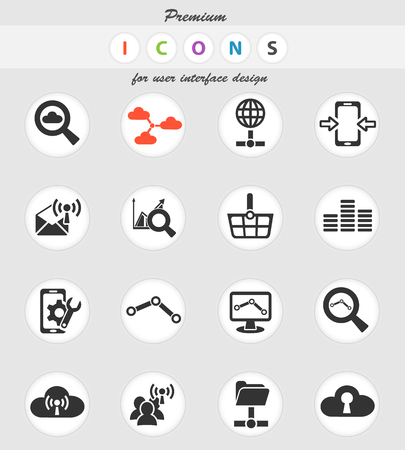 data analytic and social network web icons for user interface design