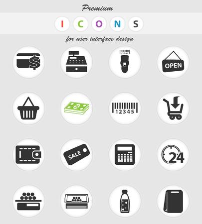 ikony wektorowe sklepu spożywczego do projektowania interfejsu użytkownika