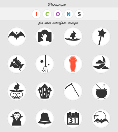 halloween vector icons for user interface design
