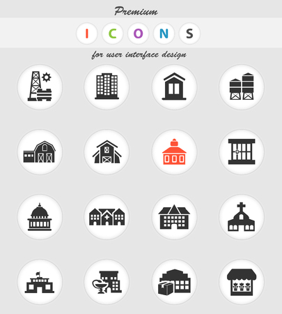 infrastructure vector icons for user interface design Illustration
