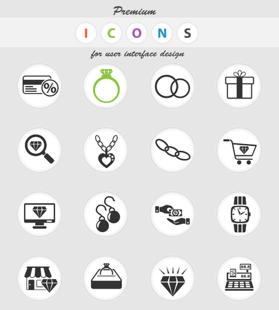 jewerly store web icons for user interface design