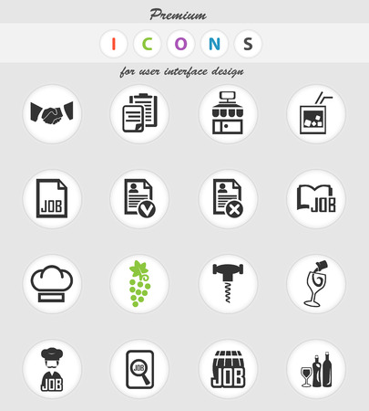 job vector icons for user interface design