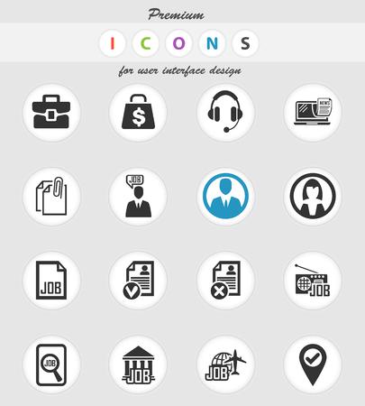 Jobvektorsymbole für das Design der Benutzeroberfläche Vektorgrafik
