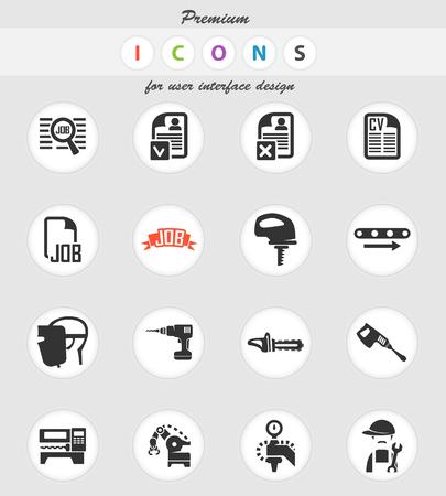 job vector icons for user interface design Ilustração