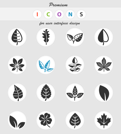 leaves web icons for user interface design