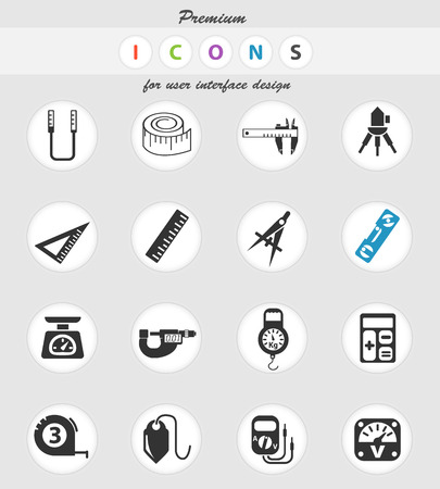 measuring tools web icons for user interface design