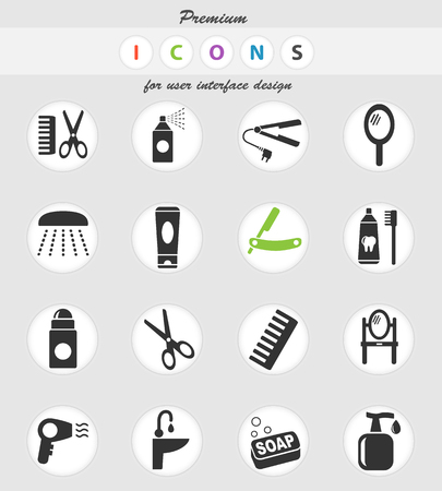 personal care web icons for user interface design