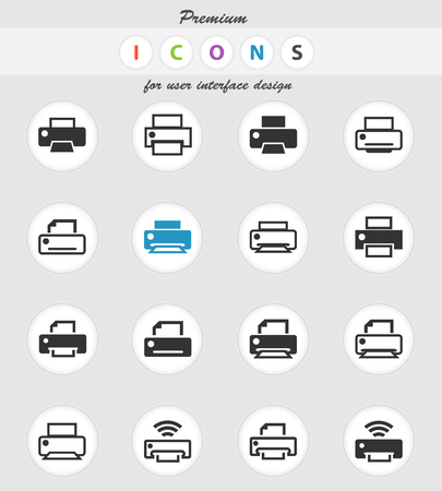 print vector icons for user interface design