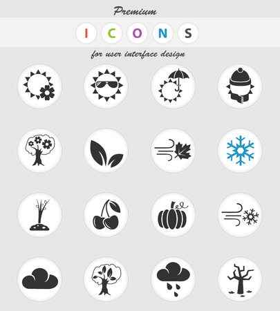 seasons web icons for user interface design