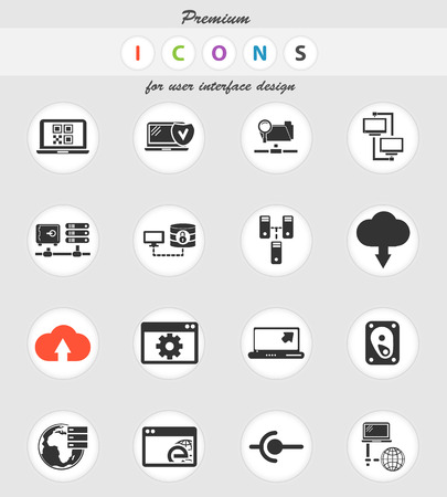 Server vector icons for user interface design 일러스트
