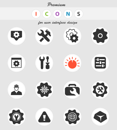settings vector icons for user interface design