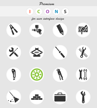 work tools vector icons for user interface design Stock Vector - 106107046