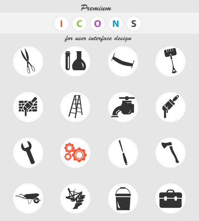 work tools vector icons for user interface design Vettoriali