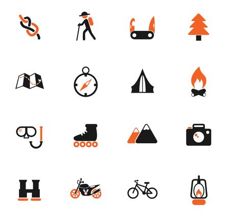 Iconos de color de vector de recreación activa para diseño de interfaz de usuario y web
