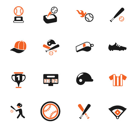 baseball vector icons for web and user interface design