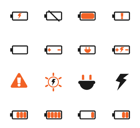 battery vector icons for web and user interface design