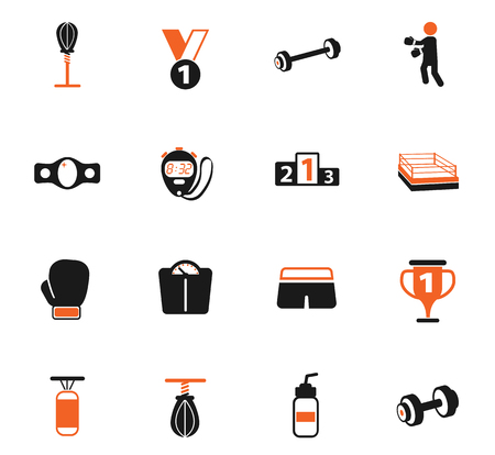 boxing vector icons for web and user interface design