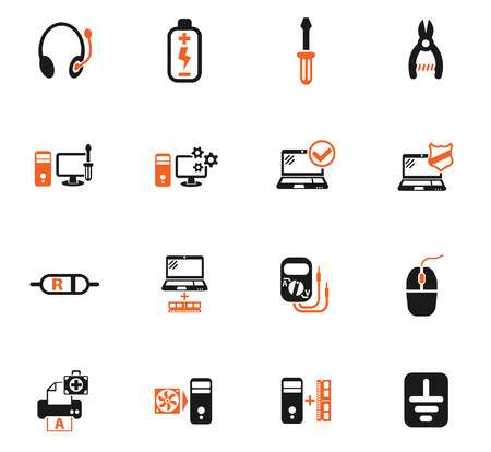 computer repair web icons for user interface design