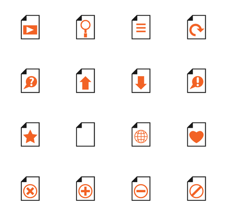 document color vector icons for web and user interface design 向量圖像