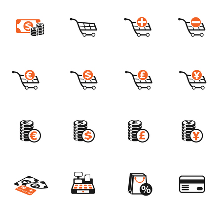 e-commerce vector icons for web and user interface design