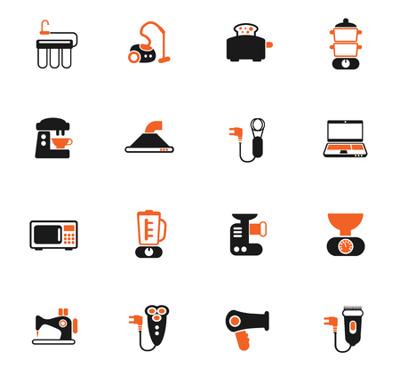 home appliances color vector icons for web and user interface design