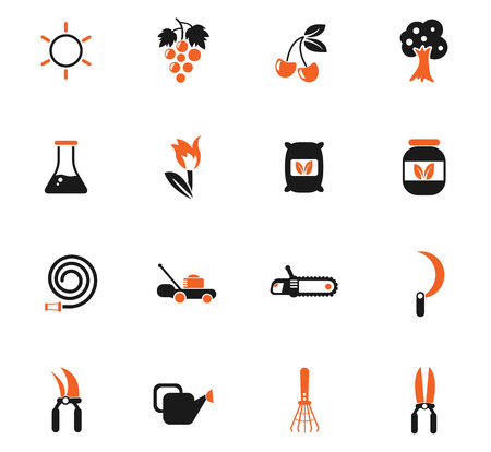 gardening color vector icons for web and user interface design
