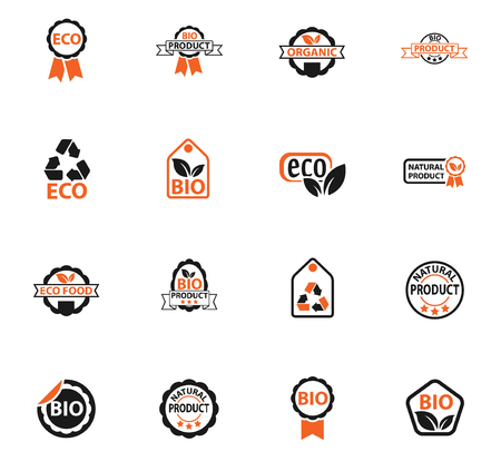 eco label web icons for user interface design Vectores
