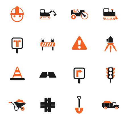 wegreparaties vector iconen voor web- en gebruikersinterface-ontwerp