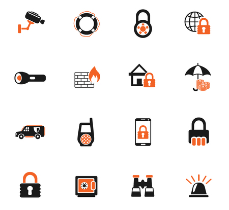 security web icons for user interface design