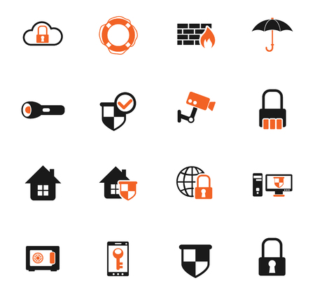 security color vector icons for web and user interface design Standard-Bild - 106211213