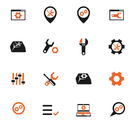 settings color vector icons for web and user interface design Иллюстрация