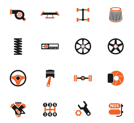 auto tuning vector icons for web and user interface design Stock Vector - 106139283