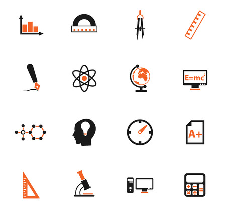 university vector icons for web and user interface design