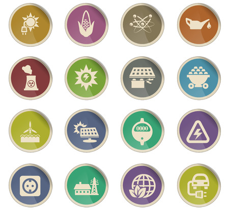 bio fuel vector icons for user interface design