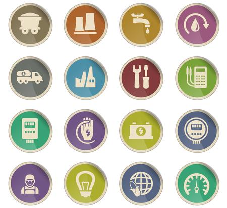 alternative energy vector icons for user interface design