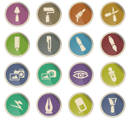 art tools vector icons for user interface design