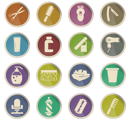 barbershop vector icons for user interface design Illustration